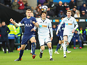 17th March 2018, Liberty Stadium, Swansea, Wales; FA Cup football, quarter-final, Swansea City versus Tottenham Hotspur; Ki Sung-Yueng of Swansea City and Eric Dier of Tottenham Hotspur challenge for possession