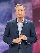 Governor John Kasich (Republican of Ohio), a candidate for the Republican Party nomination for President of the United States, arrives to speak at the Conservative Political Action Conference (CPAC) at the Gaylord National Resort and Convention Center in National Harbor, Maryland on Friday, March 4, 2016.<br /> Credit: Ron Sachs / CNP
