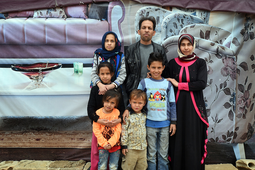 TRAUMA HEALING CASE STUDIES IN LEBANON . REFUGEE FAMILY OF MOUSA AND FATHIA. CHILDREN ASRAA, 10,  MYSAA, 6, MARIAM, 12, WISSAM, 4, AND AZZAM, 11,   IN THE TRIUMPHANT MERCY REFUGEE CAMP, ZAHLE, CLOSE TO THE SYRIAN BORDER, IN LEBANON. 20/04/16, PHOTO BY CLARE KENDALL.