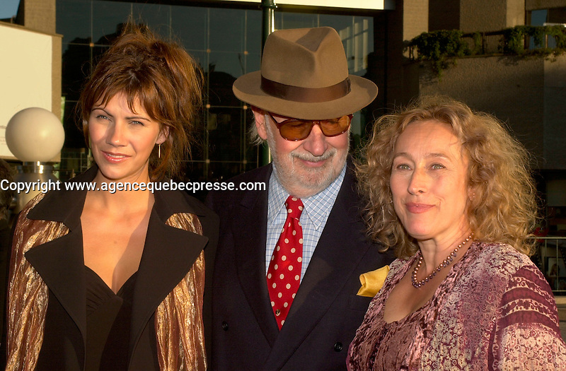 sept 8,  2003, Montreal, Quebec, Canada<br /> <br /> Manon Brouillette, actress (L)<br /> French actor Phillipe Noiret  (M)<br /> and Marie Tifo, actress (R)<br /> at the Montreal Premiere of Michel Boujenah P&raquo;RE ET FILS, sept 8 2003<br /> <br /> <br /> Mandatory Credit: Photo by Pierre Roussel- Images Distribution. (&copy;) Copyright 2003 by Pierre Roussel <br /> <br /> All Photos are on www.photoreflect.com, filed by date and events. For private and media sales