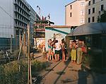 Souvenir Purchases, Near Potsdamer Platz, Berlin, Germany, August 2004