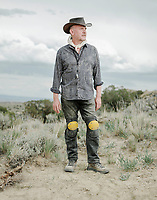 Paleobotanist Paul Kenrick at the Jurassic Mile dinosaur dig site in the Big Horn Basin in Wyoming, July 2, 2019. The dig is led by Phillip L. Manning, a paleontologist at the University of Manchester in England.<br />  <br /> Photo by Matt Nager