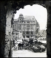 BNPS.co.uk (01202 558833)<br /> Pic:  ChiswickAuctions/BNPS<br /> <br /> Berlin in ruins following the bombardment from the allies.<br /> <br /> Remarkable previously unseen photos documenting the momentous closing stages of World War Two and its historic aftermath have come to light.<br /> <br /> They were taken by Sergeant Charles Hewitt, of the Army Film and Photographic Unit, who later went on to work for the Picture Post and the BBC.<br /> <br /> He was present at many of the important offensives of 1944 and '45 including the Battle of Monte Cassino during the Italian Campaign and the Allies advance into Germany following the D-Day invasion.