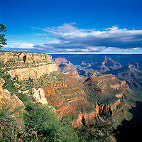 Grand Canyon National Park, Arizona, USA - Scenic View from South Rim, overlooking Rock Formations in Grand Canyon