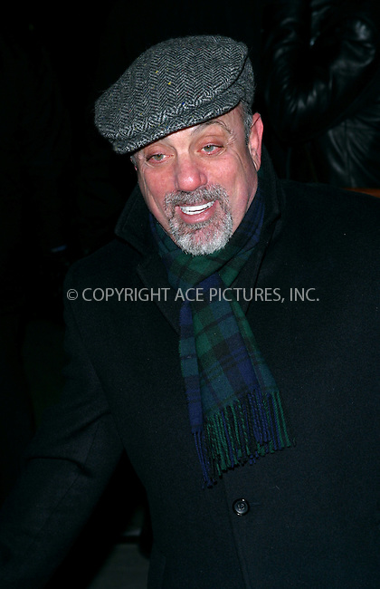 "Billy Joel at the premiere of ""Gangs of New York."" New York, December 9, 2002. Please byline: NY Photo Press. REF: MM_FF190 -- THIS REFERENCE CODE MUST APPEAR ON YOUR SALES REPORT, THANK YOU...*   ..*PAY-PER-USE*      ....NY Photo Press:  ..phone (646) 267-6913;   ..e-mail: info@nyphotopress.com"