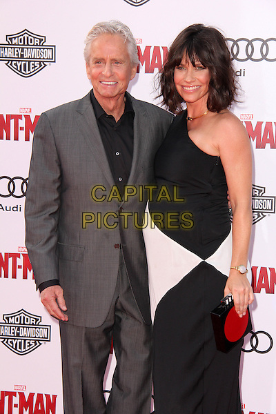 HOLLYWOOD, CA - JUNE 29: Michael Douglas, Evangeline Lilly at the premiere of Marvel's 'Ant-Man' at the Dolby Theatre on June 29, 2015 in Hollywood, California. <br /> CAP/MPI/DC/DE<br /> &copy;DE/DC/MPI/Capital Pictures