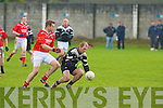 St Pat's Toma?s Greaney and Ardfert's Shane Griffin..   Copyright Kerry's Eye 2008