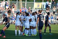 Kansas City, MO - Sunday September 04, 2016: Yael Averbuch celebrates scoring during a regular season National Women's Soccer League (NWSL) match between FC Kansas City and the Sky Blue FC at Swope Soccer Village.
