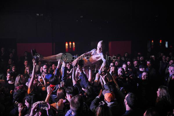 LONDON, ENGLAND - DECEMBER 5: Kjetil Gjermundrød of 'Kvelertak' performing at Electric Ballroom , Camden on December 5, 2016 in London, England.<br /> CAP/MAR<br /> ©MAR/Capital Pictures /MediaPunch ***NORTH AND SOUTH AMERICAS ONLY***