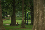 Keeping the Grove beautiful.  Photo by Kevin Bain/Ole Miss Communications