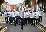 No Repro Fee....Pictured here launching into the Euro-toques Young Chef of the Year Competition is Gearoid Lynch, Chef/Proprietor of the Olde Post Inn, Co.Cavan and Commissioner-General of Euro-toques. Ireland's most prestigious culinary competition, Euro-toques Young Chef of the Year, is celebrating 21 years of culinary talent in Ireland. Gearoid is pictured alongside 20 professional chefs celebrating 21 years of culinary excellence..Sponsored by BIM and Failte Ireland this year, The Euro-toques Young Chef of the Year is open to professional chefs & cooks across the island of Ireland, under 25 years of age, and is the only professional culinary competition in the country based around local and artisan food ingredients. Through mentoring and training based prizes the competition aims to contribute to the professional development of promising young industry professionals..Euro-toques chefs and cooks are committed to a philosophy of quality food sourcing, with an emphasis on seasonal, local and artisan ingredients. They aim to keep the art of real cooking and culinary traditions alive; promoting respect for classical skills combined with modern industry techniques amongst chefs.  The 2011 Euro-toques Young Chef of the Year is a wonderful chance for budding young professionals to gain valuable skills and experience, with the prize package centering on mentoring and career development opportunities..The top prize for the 2011 Young Chef of the Year will be the opportunity of an all-expenses paid stage at the famous Ivy Restaurant in London under Executive Chef Gary Lee. Plus a one week stage at the award winning Michelin star Chapter One restaurant in Dublin under the tutelage of Euro-toques head chef Ross Lewis..Pic: Robbie Reynolds/CPR.