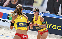 19th July 2020; Dusselldorf, Germany; Comdirect beach volleyball tour;  Chantal Laboureur, Sandra Ittlinger