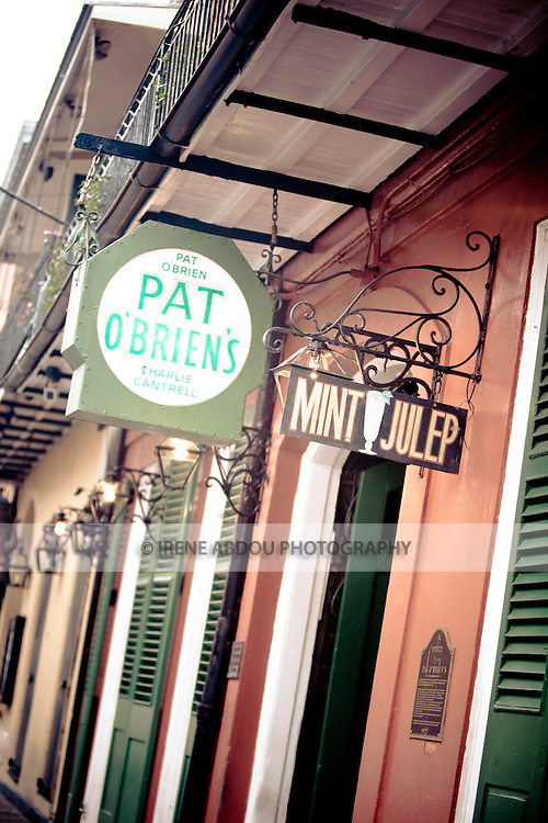 Pat O'Brien's in New Orleans, Louisiana's famed French Quarter is home to the well-known mint julep drink.
