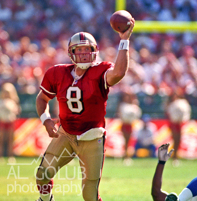San Francisco 49ers vs. Indianapolis Colts at Candlestick Park Sunday, October 18, 1998.  49ers beat Colts  34-31.  San Francisco 49ers quarterback Steve Young (8).