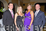 FUN: Having great fun at the Ballydesmond GLC annual dinner at the Ballygarry House hotel and Spa on Saturday l-r: Shaun Murphy, Trisha Kiniry, Una Murray and Tim Howard.