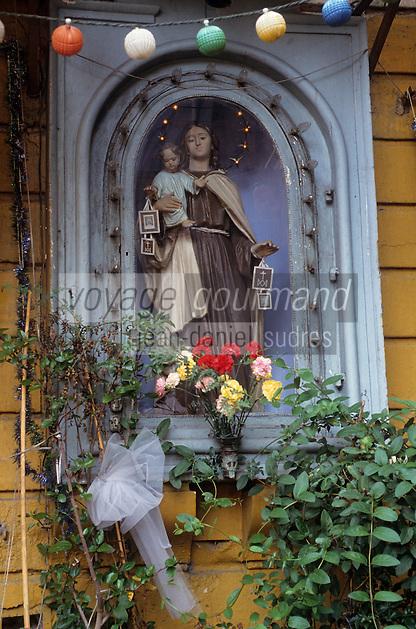 Europe/Italie/Sicile/Catane : Vierge sur le marché