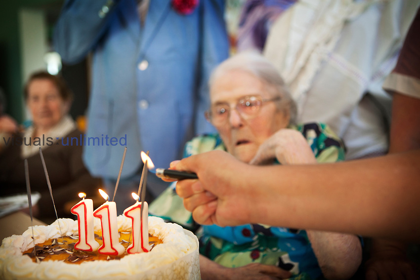 Odette Ambulher was born on the 17th September 1901 and is celebrating her 111th birthday in the retirement home in Laigné-en-Belin, Sarthe, France. Odette Ambulher has 5 children ranging from 77 to 89 years of age.