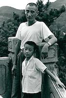 Vater und Sohn, China 1980
