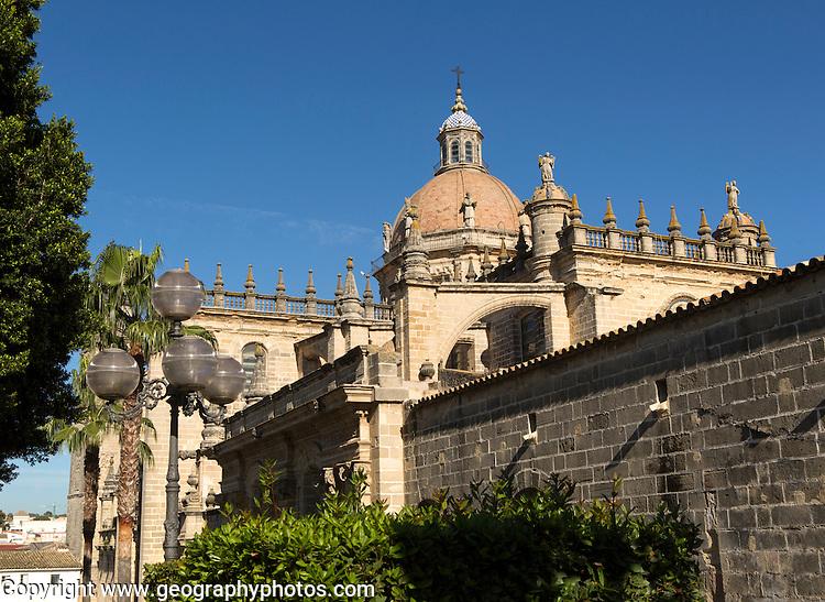 Cathedral church dome in Jerez de la Frontera, Cadiz province, Spain