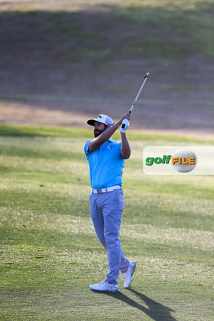 Adam Hadwin (CAN) during the 1st round of the Waste Management Phoenix Open, TPC Scottsdale, Scottsdale, Arisona, USA. 31/01/2019.<br /> Picture Fran Caffrey / Golffile.ie<br /> <br /> All photo usage must carry mandatory copyright credit (&copy; Golffile | Fran Caffrey)