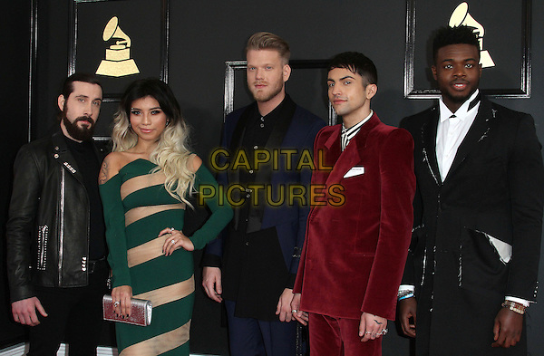 12 February 2017 - Los Angeles, California - Avi Kaplan, Kirstin Maldonado, Scott Hoying, Mitch Grassi, Kevin Olusola, Pentatonix. 59th Annual GRAMMY Awards held at the Staples Center.  <br /> CAP/ADM<br /> &copy;ADM/Capital Pictures