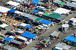Aerial view of Queens, New York Flea Market