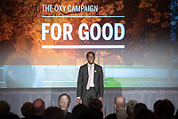 Jordan Walker '21<br /> Occidental College launched the public phase of the Oxy Campaign For Good, a comprehensive effort to raise $225 million to strengthen its financial aid endowment and academic and co-curricular programs, at a May 18, 2019 Campaign Leadership Summit on the Occidental campus. More than 100 Oxy community members participated, getting a first-hand look at current programs and celebrated what the Campaign means for the future of Oxy.<br /> (Photo by Marc Campos, Occidental College Photographer)
