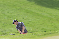 Branden Grace (RSA) chips from a bunker at the 18th green during Friday's Round 2 of the 2017 PGA Championship held at Quail Hollow Golf Club, Charlotte, North Carolina, USA. 11th August 2017.<br /> Picture: Eoin Clarke | Golffile<br /> <br /> <br /> All photos usage must carry mandatory copyright credit (&copy; Golffile | Eoin Clarke)