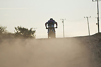 Factory KTM rider David Pearson going full speed down road just north of Todos Santos, bringing the 9x KTM team a 3rd place finish with an overall time of 25:56:00, 2007 Baja 1000
