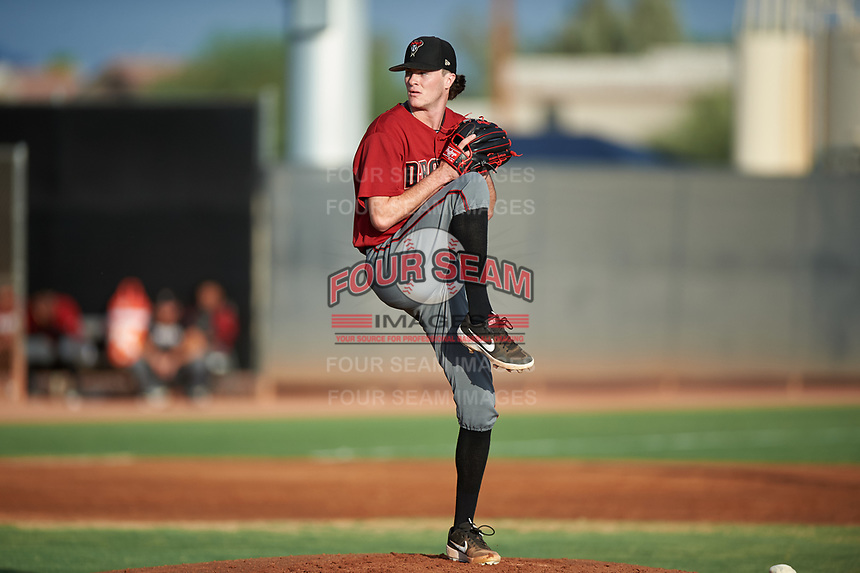 AZL D-backs starting pitcher Blake Walston (39) makes his professional debut during an Arizona League game against the AZL Mariners on August 7, 2019 at Peoria Sports Complex in Peoria, Arizona. AZL D-backs defeated the AZL Mariners 4-1. Walston pitched one inning and allowed one earned run while striking out three batters. (Zachary Lucy/Four Seam Images)
