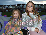 Juliette and Michaela Robinson at the outdoor cinema in Inse Bay Laytown. Photo:Colin Bell/pressphotos.ie