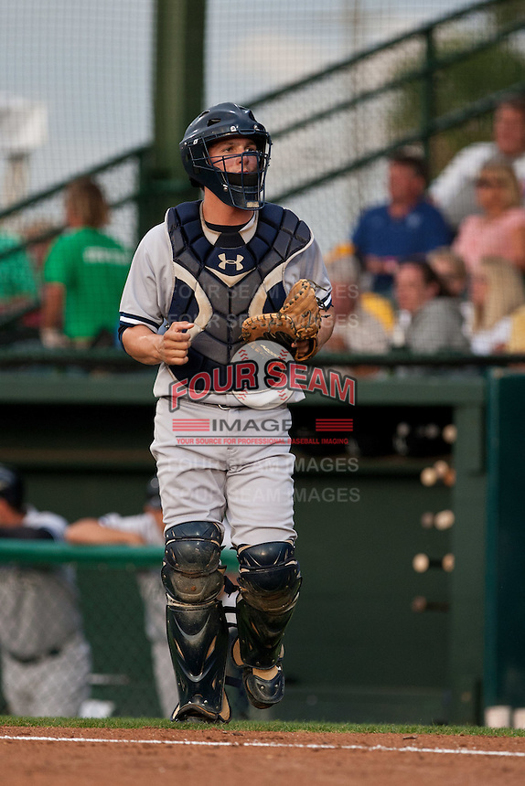 Catcher JR Murphy #30 of the Tampa Yankees during the game against the Daytona Cubs at Jackie Robinson Ballpark on April 19, 2012 in Daytona Beach, Florida. (Scott Jontes / Four Seam Images)