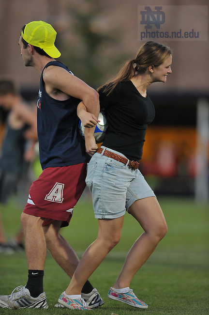 iAug. 27, 2011; Students compete in activities during halftime of the Men's Soccer game vs. Indiana.