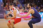 League ACB-ENDESA 2017/2018 - Game: 20.<br /> FC Barcelona Lassa vs Retabet Bilbao Basket: 90-58.<br /> Dejan Todorovic vs Pau Rivas.