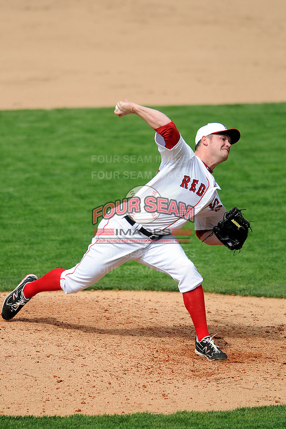 Pawtucket Red Sox pitcher Alex Wilson #30 during a game versus the Columbus Clippers at McCoy Stadium in Pawtucket, Rhode Island on May 13, 2012.   (Ken Babbitt/Four Seam Images)