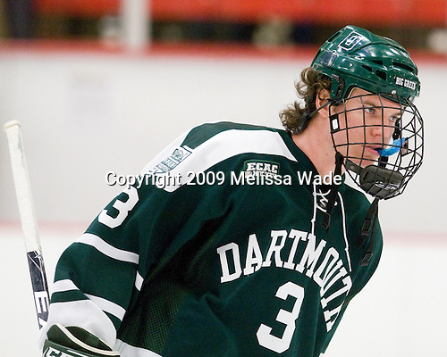 Connor Goggin (Dartmouth - 3) - The Harvard University Crimson defeated the Dartmouth College Big Green 4-1 (EN) on Monday, January 18, 2010, at Bright Hockey Center in Cambridge, Massachusetts.