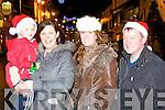 Odhran, Alison O'Shea, Pauline Fitzgerald and Paul O'Shea at the Christmas in Killarney parade on Friday night..