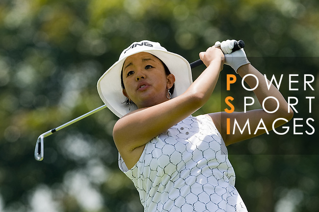 SINGAPORE - MARCH 06:  Jane Park of the USA in action during the second round of HSBC Women's Champions at the Tanah Merah Country Club on March 6, 2009 in Singapore. Photo by Victor Fraile / The Power of Sport Images