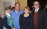WATERBURY CT. 08 February 2018-020818SV10-From left, Debbie Mulhall, Jeff Lynch, Liz Lynch, and Jim Mulhall all of Watertown attend The Mattatuck Museum's 5th Annual Beer Fest in Waterbury Thursday.<br /> Steven Valenti Republican-American