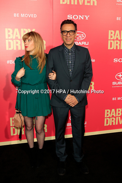 """LOS ANGELES - JUN 14:  Natasha Lyonne, Fred Armison at the """"Baby Driver"""" Premiere at the The Theater at Ace Hotel on June 14, 2017 in Los Angeles, CA"""