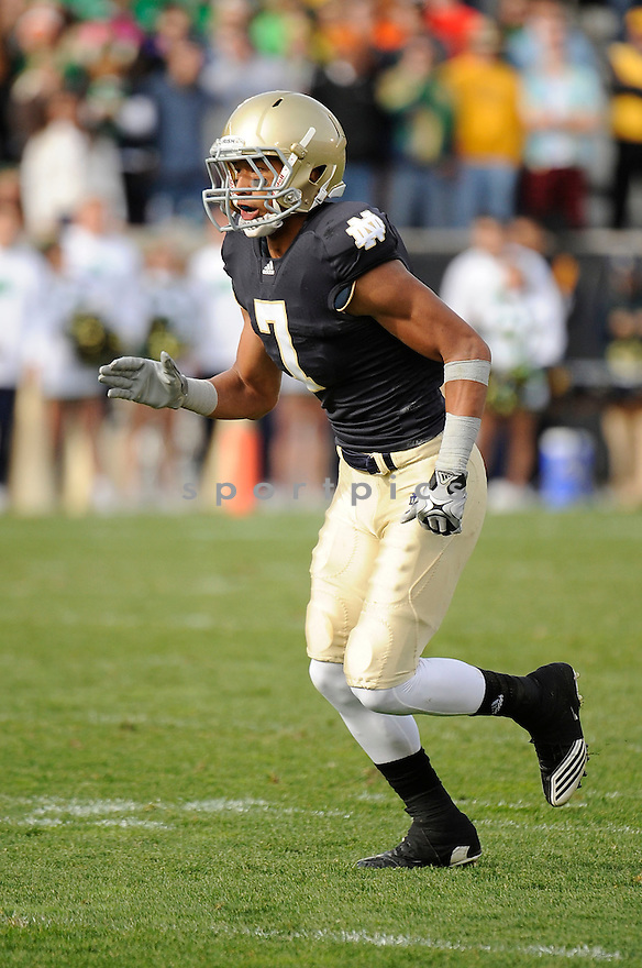TJ JONES, in action during the Notre Dame game against Tulsa on October 30, 2010, at Notre Dame Stadium in South Bend, Indiana...Tulsa won 28-27..