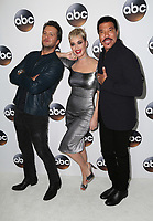 PASADENA, CA - JANUARY 8- Luke Bryan, Katy Perry, Lionel Richie, at Disney ABC Television Group Hosts TCA Winter Press Tour 2018 at the Langham Hotel in Pasadena, California on January 8, 2018. <br /> CAP/MPI/FS<br /> &copy;FS/MPI/Capital Pictures