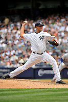 New York Yankees pitcher Hector Noesi #45 during a game against the Texas Rangers at Yankee Stadium on June 16, 2011 in Bronx, NY.  Yankees defeated Rangers 3-2.  Tomasso DeRosa/Four Seam Images