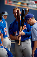Durham Bulls Joe McCarthy (31) during an International League game against the Toledo Mud Hens on July 16, 2019 at Fifth Third Field in Toledo, Ohio.  Durham defeated Toledo 7-1.  (Mike Janes/Four Seam Images)