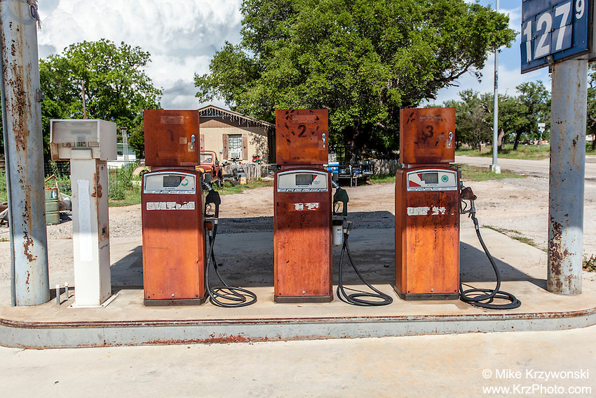 Old gas pumps in Cherokee, TX