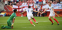 20170719 - UTRECHT , NETHERLANDS : English Jodie Taylor celebrating her first goal  pictured during the female soccer game between England and Scotland  , the frist game in group D at the Women's Euro 2017 , European Championship in The Netherlands 2017 , Wednesday 19 th June 2017 at Stadion De Galgenwaard  in Utrecht , The Netherlands PHOTO SPORTPIX.BE | DIRK VUYLSTEKE