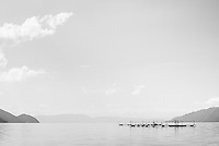 Fish farm, Lake Toba (Danau Toba), North Sumatra, Indonesia