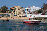 Houses along Goree Island Waterfront, Senegal.