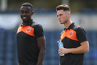 Blackpool's Jordan Thompson (right) and Joe Dodoo<br /> <br /> Photographer Kevin Barnes/CameraSport<br /> <br /> The EFL Sky Bet League One - Wycombe Wanderers v Blackpool - Saturday 4th August 2018 - Adams Park - Wycombe<br /> <br /> World Copyright &copy; 2018 CameraSport. All rights reserved. 43 Linden Ave. Countesthorpe. Leicester. England. LE8 5PG - Tel: +44 (0) 116 277 4147 - admin@camerasport.com - www.camerasport.com