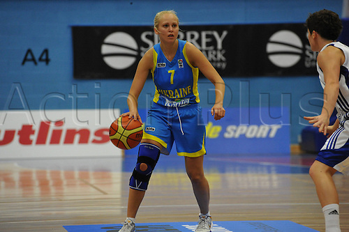20.08.2010 Inna Kochubei (UKR)   in action during the Eurobasket Women 2011 Qualifiers   Division A Great Britain take the Ukraine at Surrey University